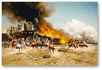 Burning the Way Station - by Frank McCarthy