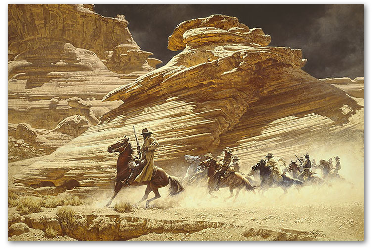 Dust Stained Posse - by Frank McCarthy