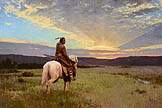 Lone Rider, Milk River Valley - by Z.S. Liang